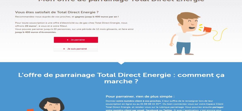 code parrainage total direct énergie